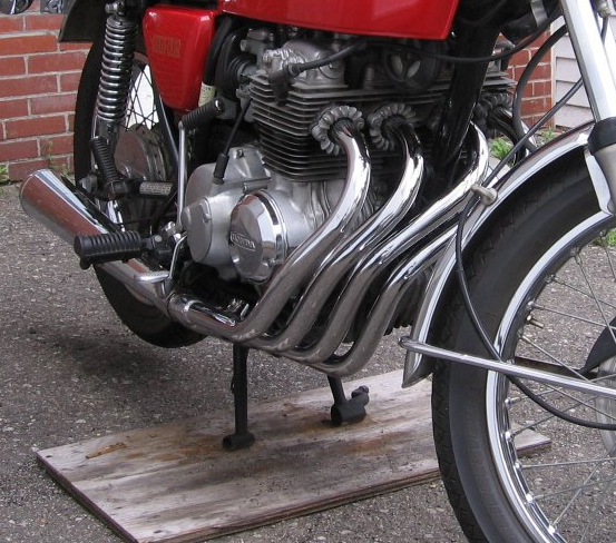 1975_CB400F_Exhaust