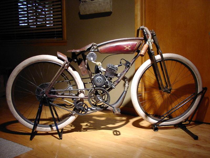 1914 Replica Excelsior Board Track Racer Vintage Kraft